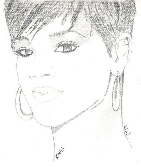 Portrait de Rihanna par nara123 sur Stars Portraits
